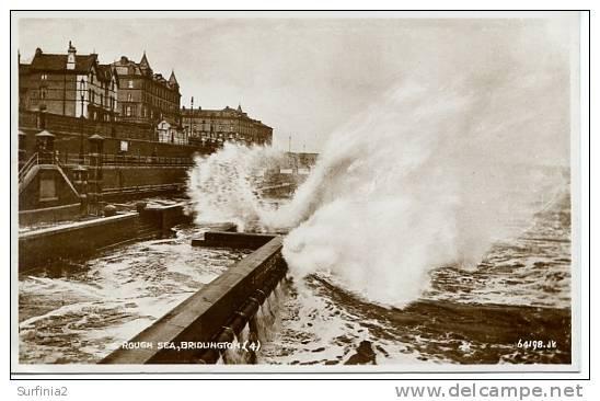 YORKS - BRIDLINGTON - ROUGH SEA RP 1935  Ye173 - Other