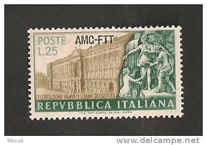 TRIESTE A CELEBRAZIONI VANVITELLIANE 25 LIRE 1952 NUOVO GOMMA INTEGRA NO LINGUELLA - Nuovi