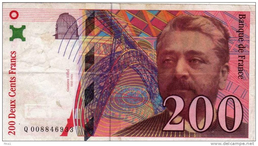 --200 DEUX CENTS FRANCS--BANQUE DE FRANCE - 1992-2000 Last Series