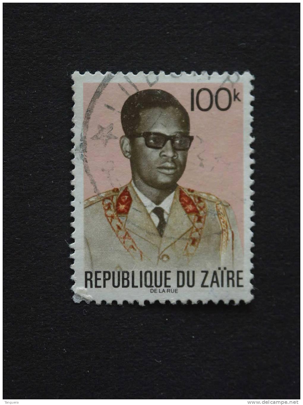 Congo Zaire 1972 General Generaal Mobutu Yv 822 O - 1971-79: Usati