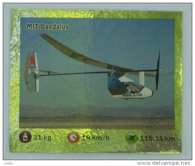MIT DAEDALUS  ( Croatia Sticker ) Plane Avion Avio * Autocollant - Stickers