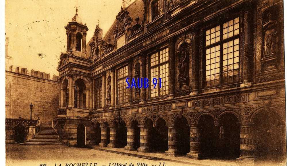 La Rochelle -L'Hôtel De Ville-  L.L.,n°193-  Circulé  En 1929 -Réf:2_0710 - La Rochelle