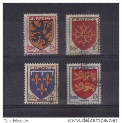 N°602 A 605 Armoiries De Provinces (II)  Oblitéré - Gebraucht