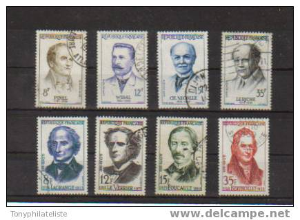 Personnalitées De 1958 Les Grands Savants Et Les Grands Medecins N°1142 A 1149 - Gebraucht