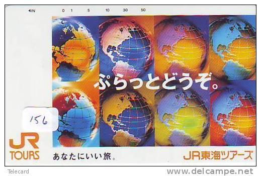 Télécarte Japon  MAP * Carte Du Monde * GLOBE (156) * Géographie * Mappemonde *  Phonecard JAPAN * Telefonkarte * GPS - Espacio