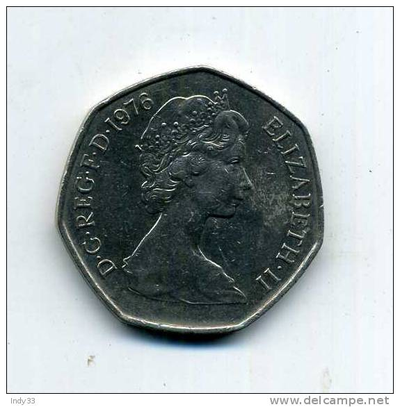 - GRANDE-BRETAGNE . 50 P. 1976 - 1971-… : Monnaies Décimales
