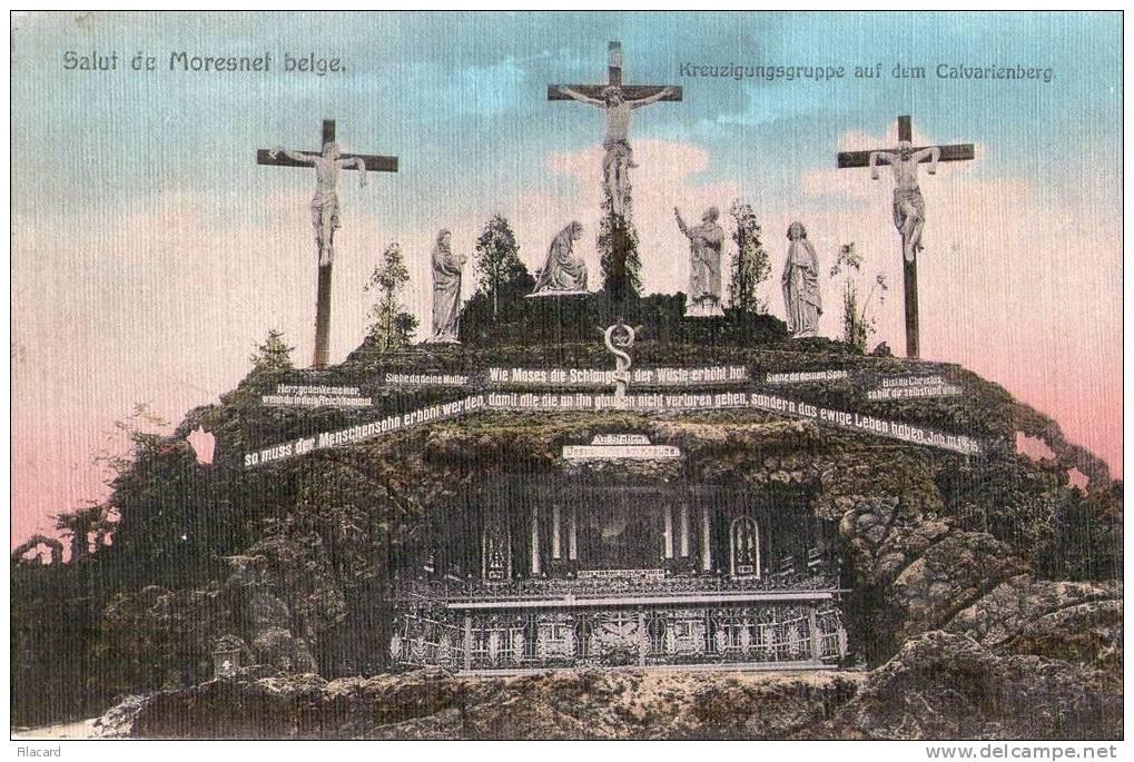 6546   Belgio    Moresnet Belge    Kreuzigungsgruppe  Auf Dem  Calvarienberg  VG  1910 - Plombières
