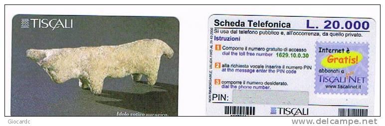 ITALIA - TISCALI - GOLDEN 99 - ARCHEOLOGIA  (2^ TIPO) LIT 20.000 : IDOLO VOTIVO NURAGICO - NUOVA - Italia