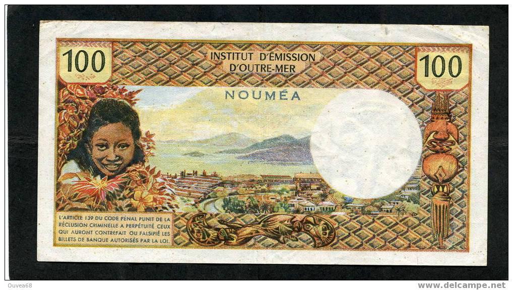 """Rare Billet De 100 Francs Type 1968 De Nouvelle Caledonie Alphabet U.1 Sans La Mention """" Republique Francaise - Nouméa (New Caledonia 1873-1985)"""