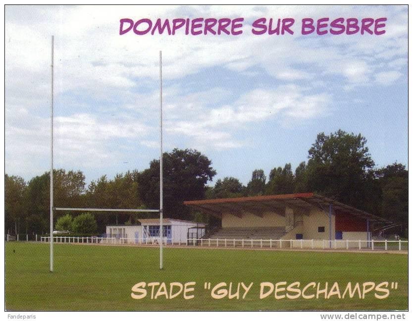 03  ALLIER *** DOMPIERRE-sur-BESBRE *** STADE  DE RUGBY GUY DESCHAMPS/CP OU PHOTO - Non Classificati