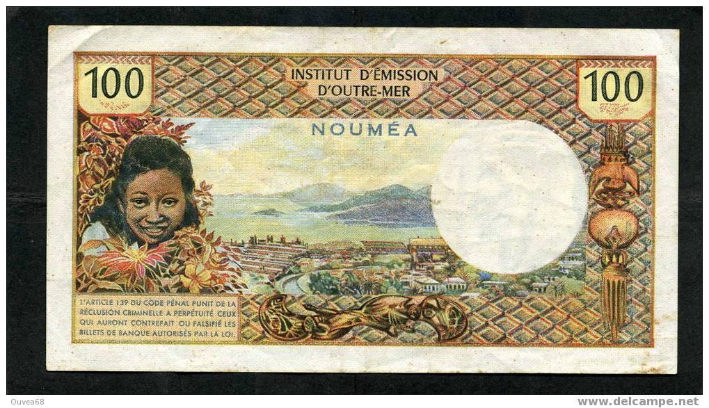 """Rare Billet De 100 Francs Type 1968 De Nouvelle Caledonie Alphabet M.1 Sans La Mention """" Republique Francaise - Nouméa (New Caledonia 1873-1985)"""