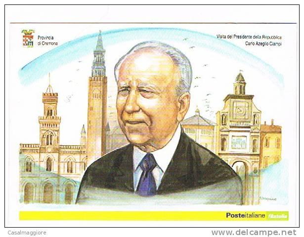 ANNULLO SPECIALE 6.12.2005 VISITA DEL PRESIDENTE CIAMPI ALLA PROVINCIA DI CREMONA - 6. 1946-.. Repubblica