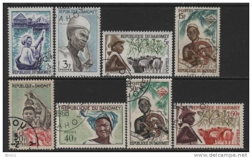 Benin(Dahomey), Scott # 160-4,167-9 Used Part Set Various Designs - Bénin – Dahomey (1960-...)