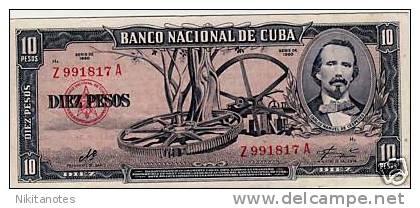 CUBA Banknote 10 Pesos 1960 Signed CHE GUEVARA XF - Cuba