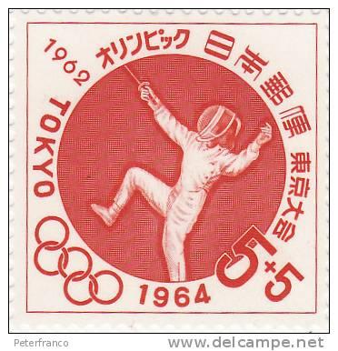 1964 Giappone - Olimpiadi Di Tokio - Scherma