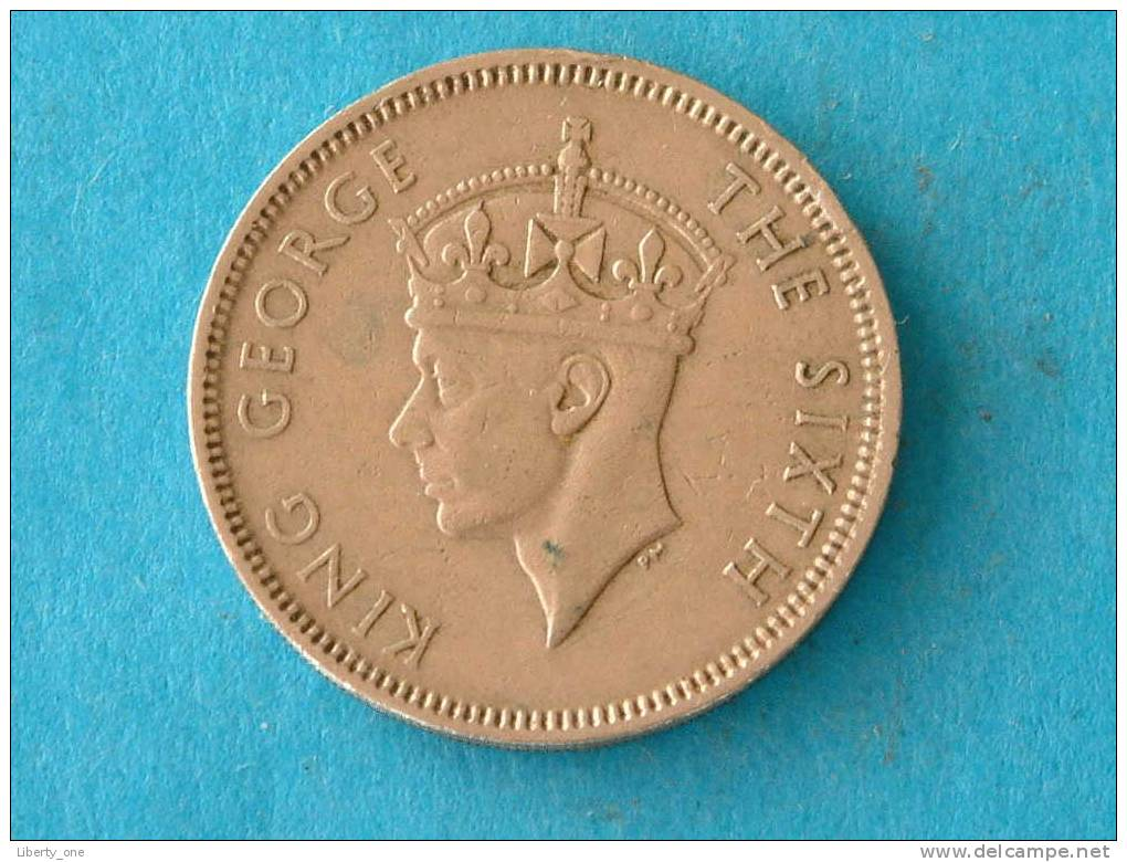 1951 - FIFTY CENTS / KM 27.1 ( For Grade, Please See Photo ) ! - Hongkong
