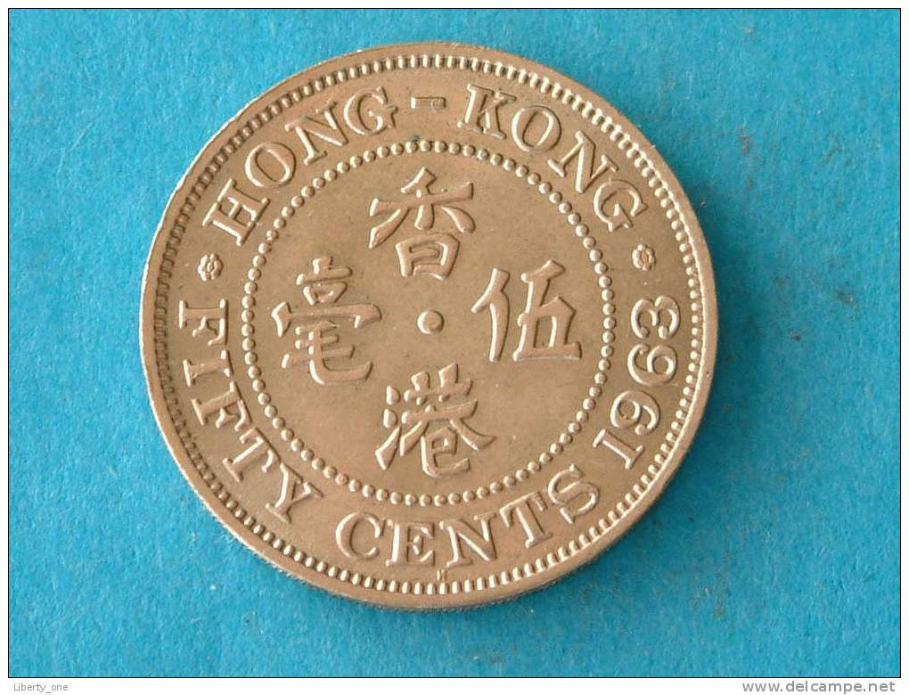 1963 H - FIFTY CENTS / KM 30.1 ( For Grade, Please See Photo ) ! - Hongkong