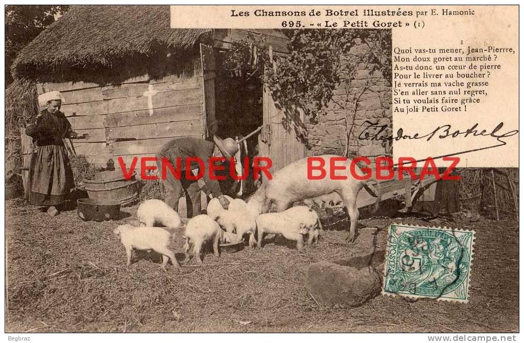 COCHON    BOTREL CHANSON   FERME - Varkens