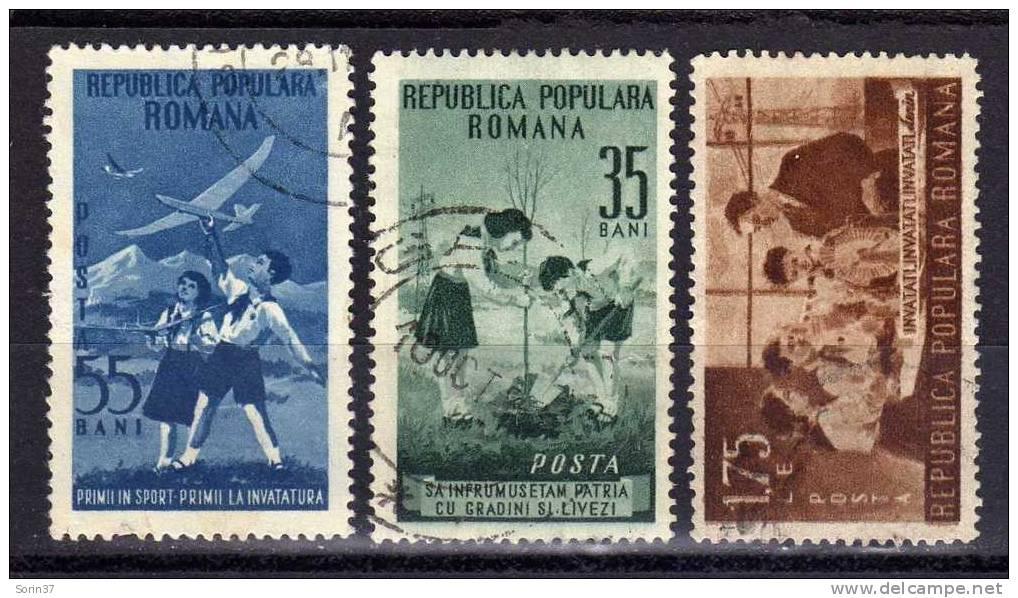 Serie Completa De Romania Año 1953  Yvert Nr.1304/06  Usada - 1948-.... Repúblicas