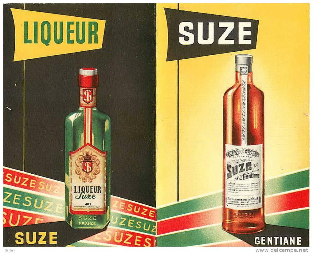 Calendrier Publicitaire 1956 , SUZE Gentiane , Format Plié 7 X 11 Cm , *2191 - Calendriers