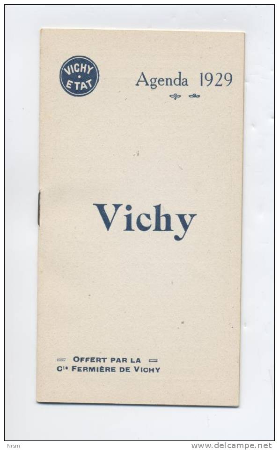 Calendrier 1929 - VICHY Etat / Compagnie Fermlère - Kalenders
