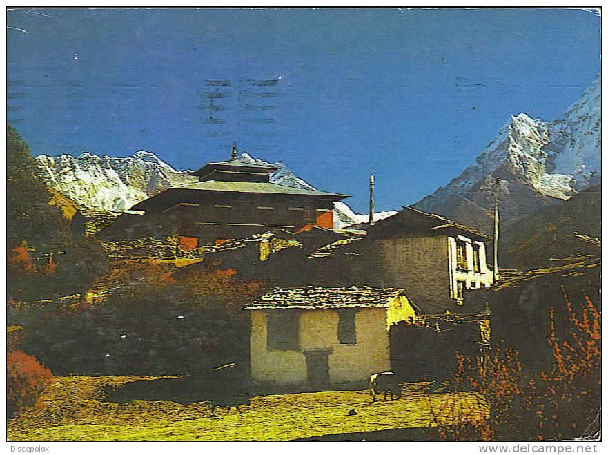 A1879 Nepal - Thyangboche Monastry / Viaggiata 1988 - Nepal