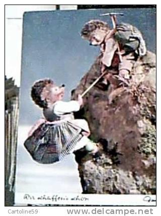 RICCIO MECKI ALPINISTA SCAL MONTI CON RAGAZZA V1966   CP11368 - Mecki