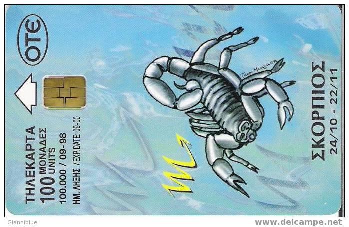 Zodiac Scorpion/Scorpio - Greece Phonecard - Zodiaco