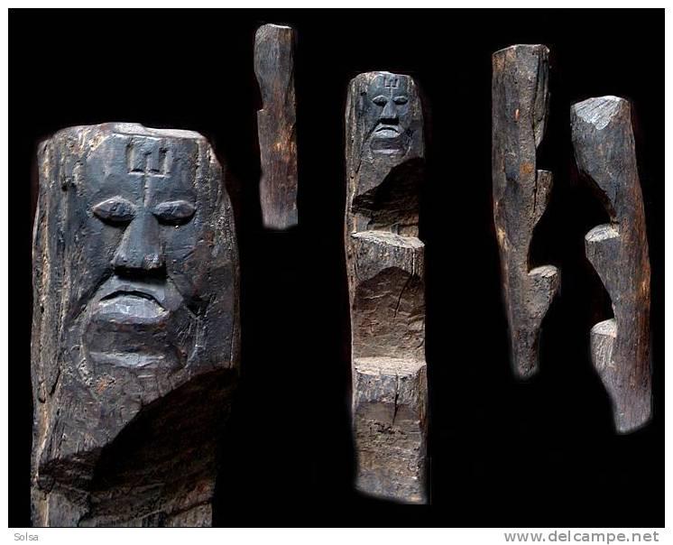 Ancienne échelle Antropomorphe Magyar / Old Anthropomorphic Scale From Magyar Tribsmen - Art Asiatique