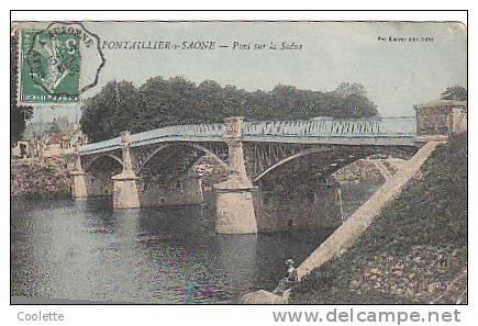 21 PONTAILLIER SUR SAONNE  Pont Sur La Saonne  Vve Karrer Dôle  Animée - France