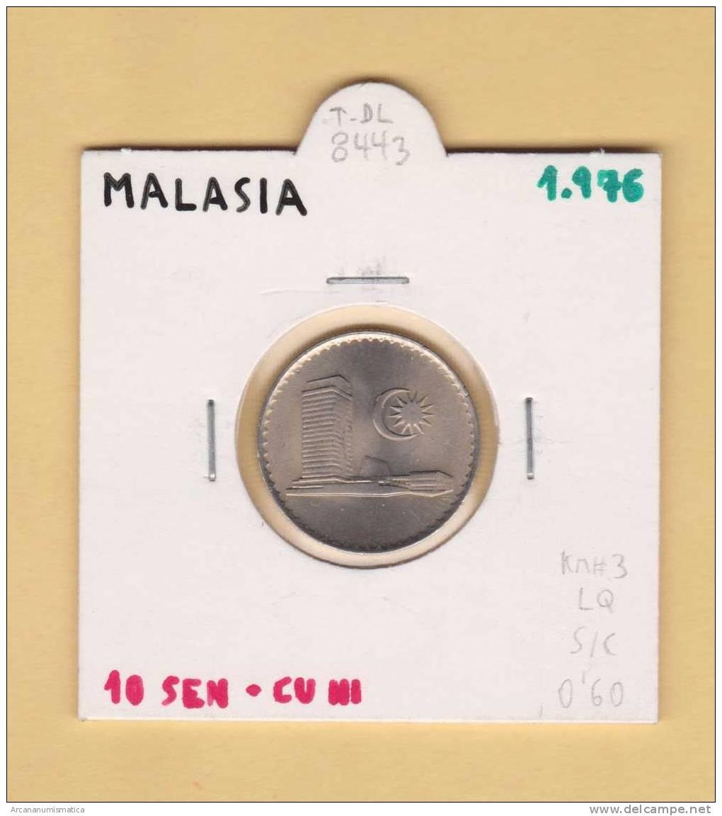 MALASIA  10  SEN   1.976   CU NI    KM#3   SC/UNC      DL-8443 - Malasia