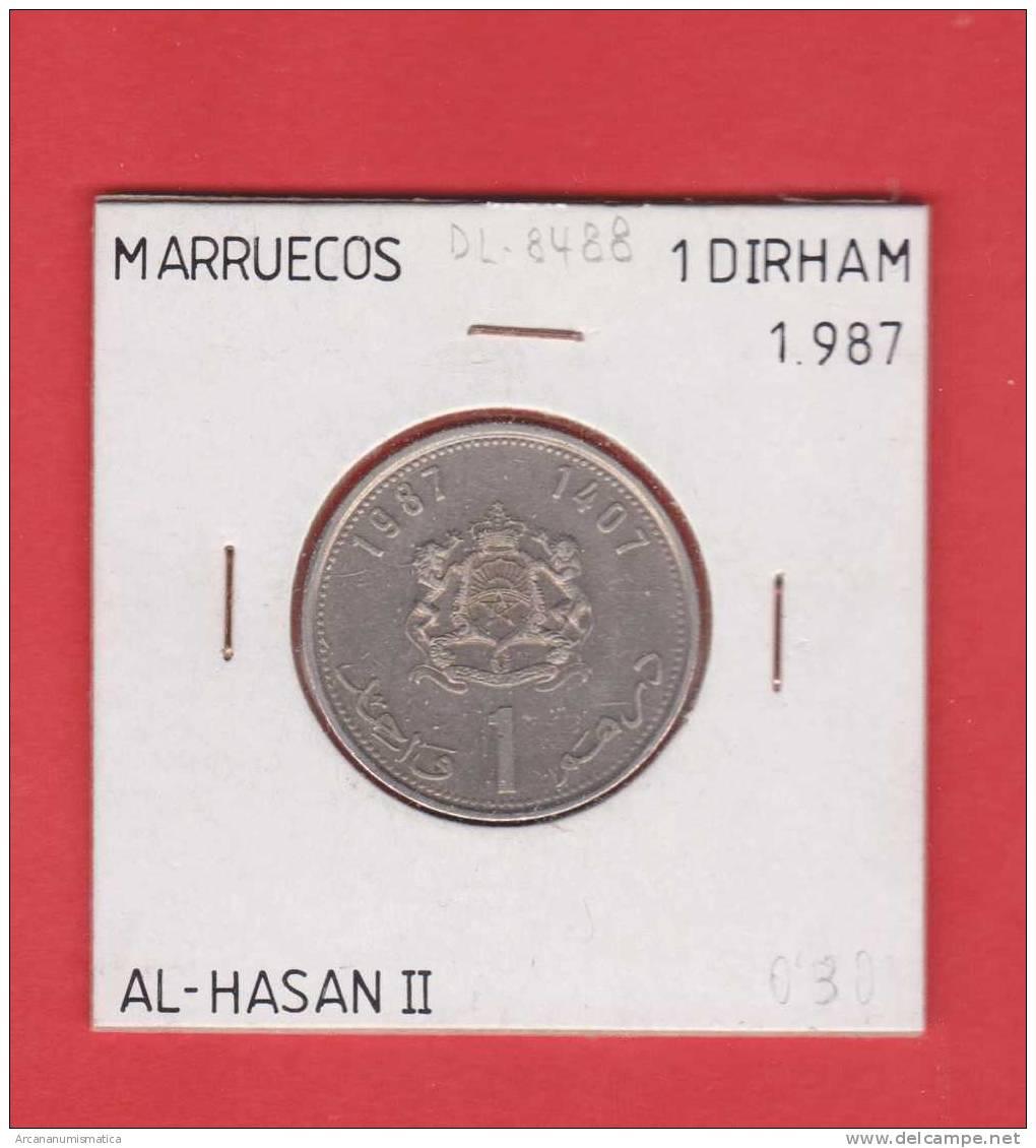 MARRUECOS   1  DIRHAM     1.987  CU NI    Y#88     MBC/VF    DL-8488 - Marruecos