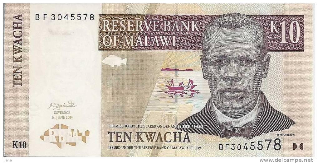 - AFRIQUE - BANQUE DU MALAWI - TEN KWACHA - K 10 - - Malawi