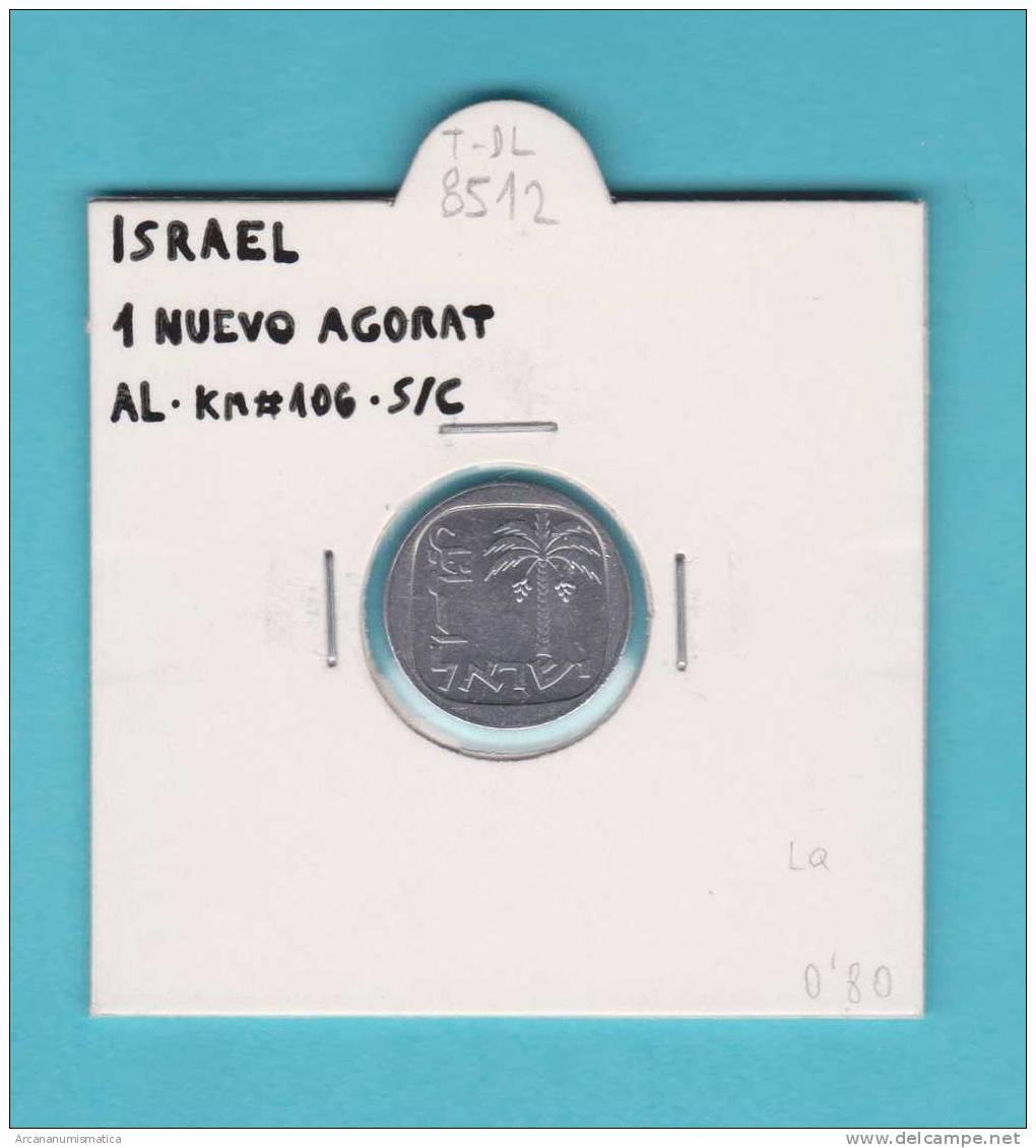 ISRAEL   1  NUEVO  AGORAT 1.980  AL  KM#106  SC/UNC        DL-8512 - Israel