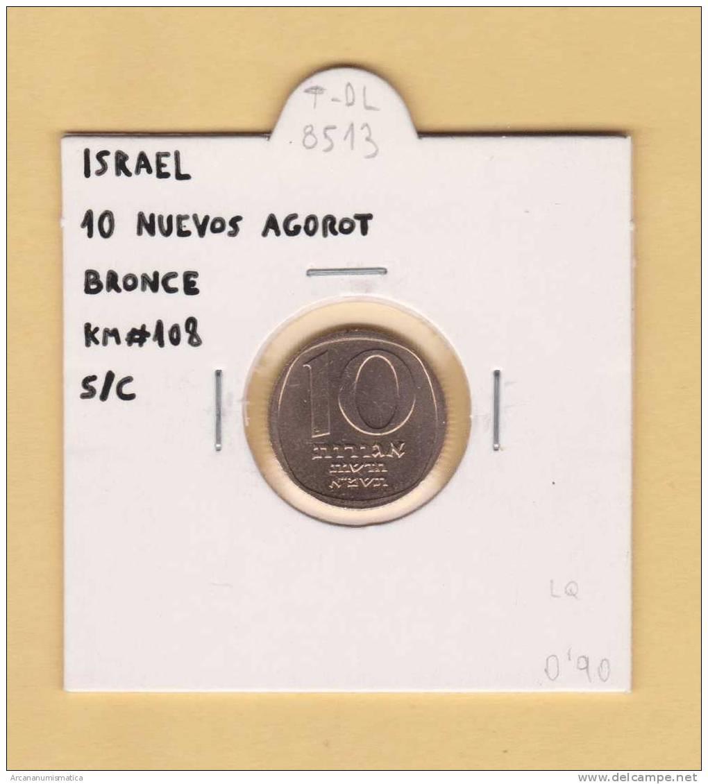 ISRAEL   10  NUEVO  AGORAT   BRONCE  KM#108     SC/UNC        DL-8513 - Israel