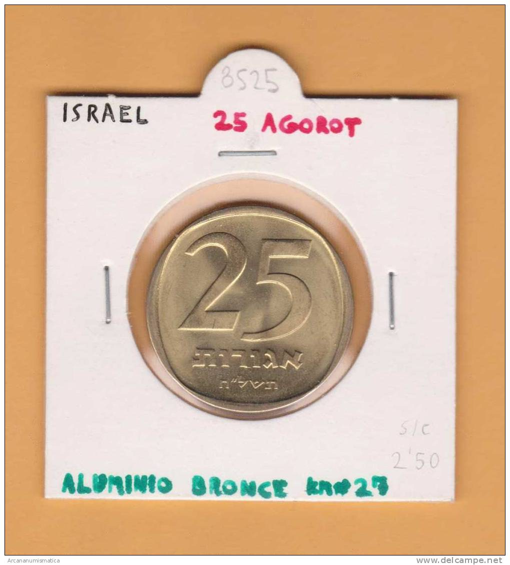 ISRAEL   25     Agorah   ALUMINIO-BRONCE   SC/UNC    KM#27      DL-8525 - Israel