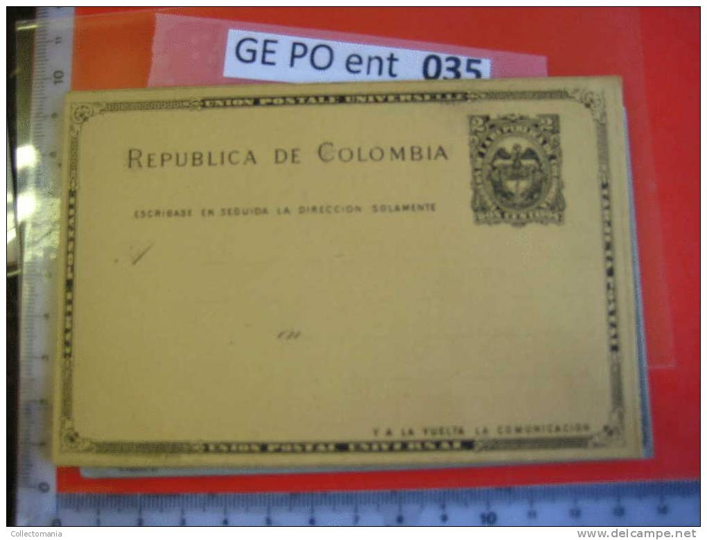 10 COLOMBIA & Honduras Stationary Postal Before 1900 Mint Postcards Ganzsachen Entier Postale Posstukken , Briefkaarten - Honduras
