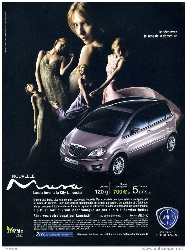 Lancia Musa Advert 2008 - Cars