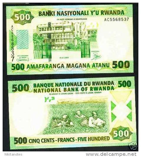 2004 Rwanda 500 Francs Note P.30 UNC - Ruanda-Urundi