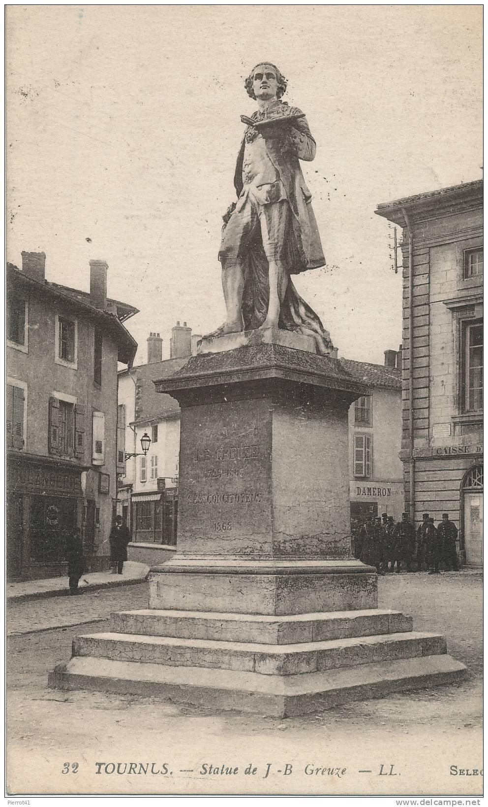 TOURNUS - Statue J.B.Greuze - Zonder Classificatie