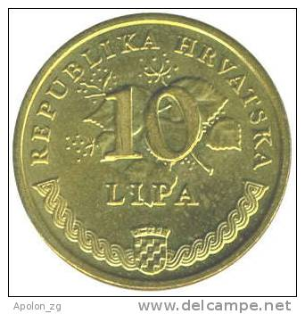 CROATIA: 10 Lipa 2007 AUNC * HIGH CONDITION COIN* - Croatia