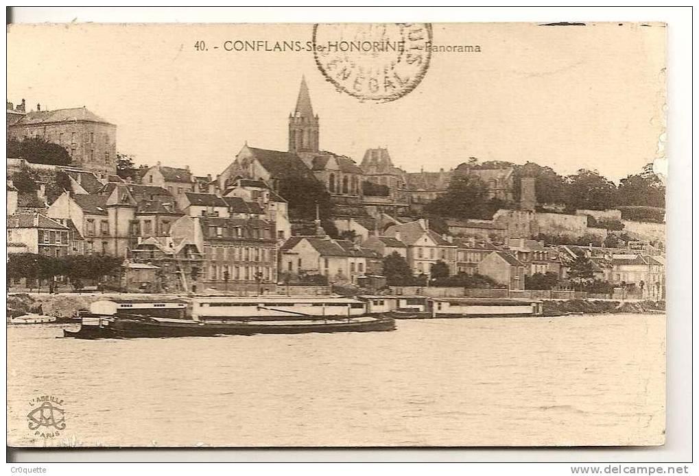 PANORAMA EN 1924 - Conflans Saint Honorine