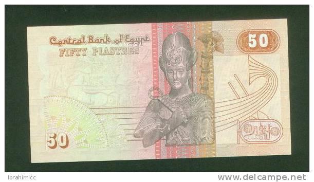 EGYPT 50 PT  1994  SIG/I.HASSAN.  PREFIX  73  UNC - Egipto