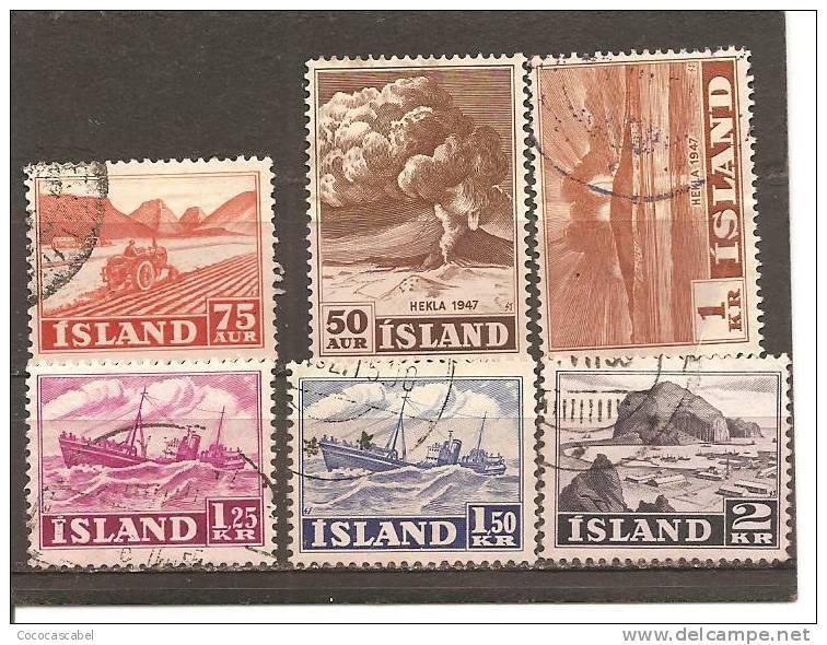 Islandia Lote De 6 Sellos Usados Años 1948-52 (o) - 1944-... República