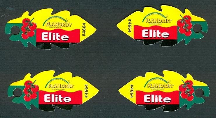 4 étiquettes TOMATE FLANDRIA ELITE (recto-Verso) 7,5 Cm Sur 3,5 Cm - Fruits & Vegetables