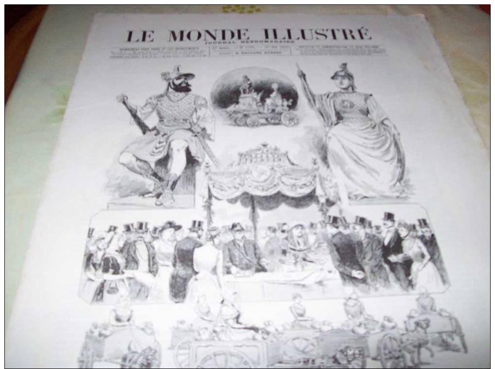LE MONDE ILLUSTRE 26 Octobre 1889 : EXPO UNIVERSELLE : HISTOIRE DU TRAVAIL - GALERIE DESAIX - PALAIS DES ARTS LIBERAUX - Journaux - Quotidiens