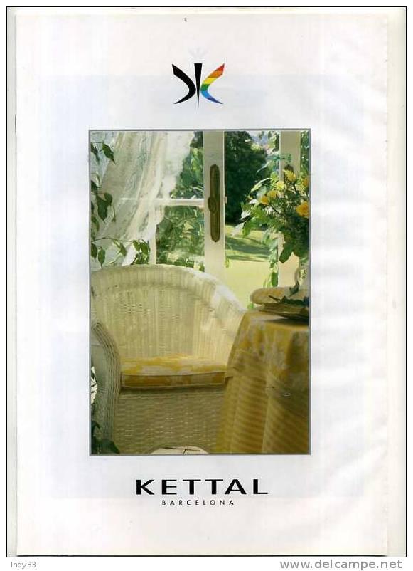 - CATALOGUE DESIGNER KETTAL . BARCELONA 1995 - Catalogues