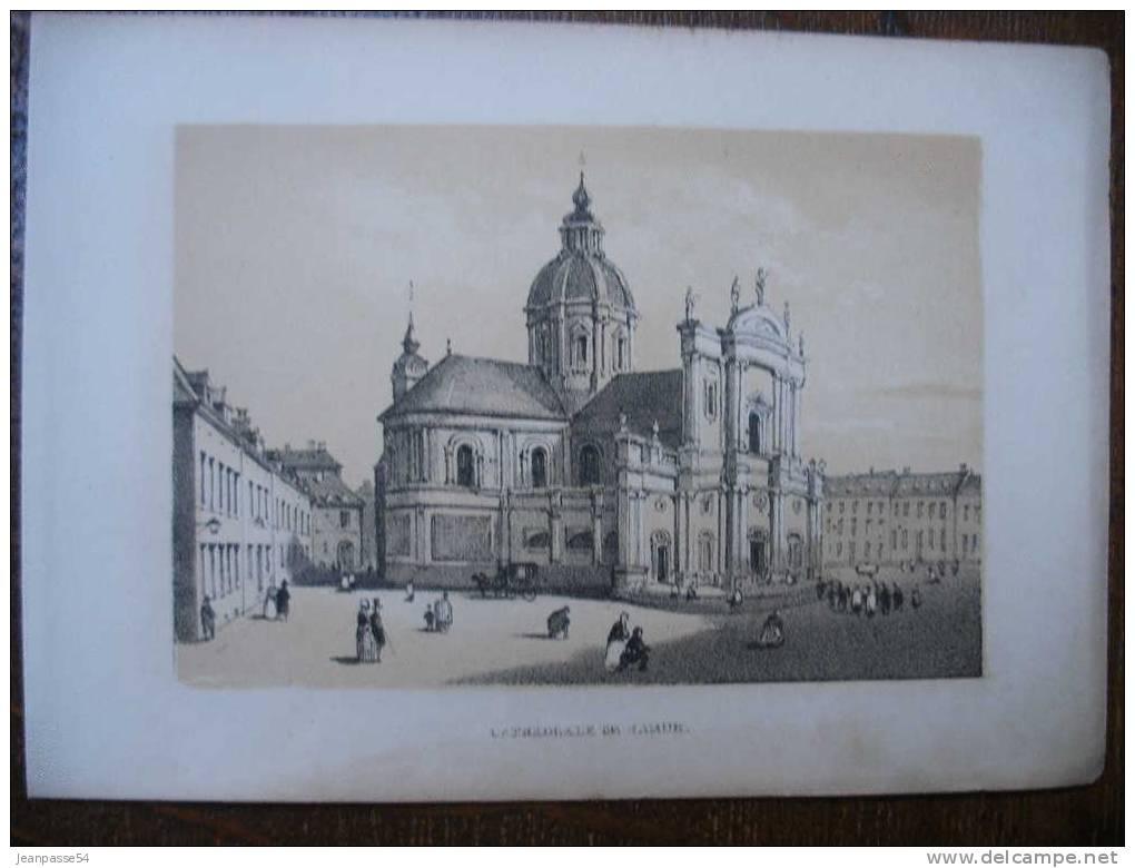 Cathédrale De Namur. Lithographie Originale Du 19e Siècle ( Vers 1860 ) - Prints & Engravings