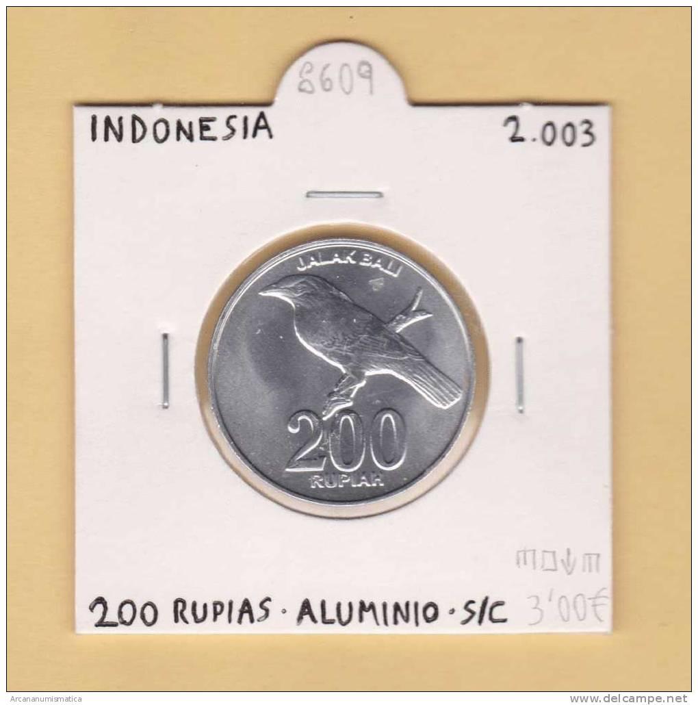 INDONESIA    200   Rupias 2.003  AL      SC/UNC    DL-8609 - Indonesia