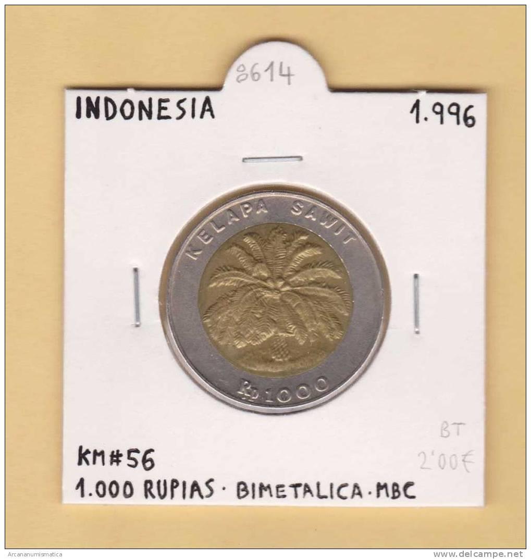 INDONESIA    1.000   Rupias 1.996   KM#56  BIMETALICA      MBC/VF    DL-8614 - Indonesia